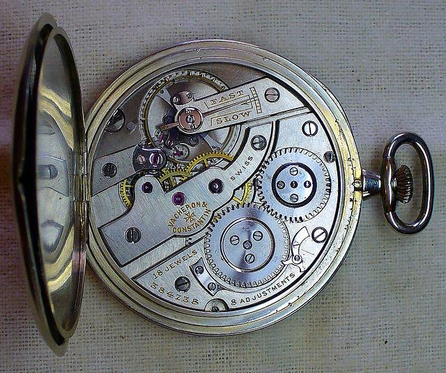 reloj analógico (interior)